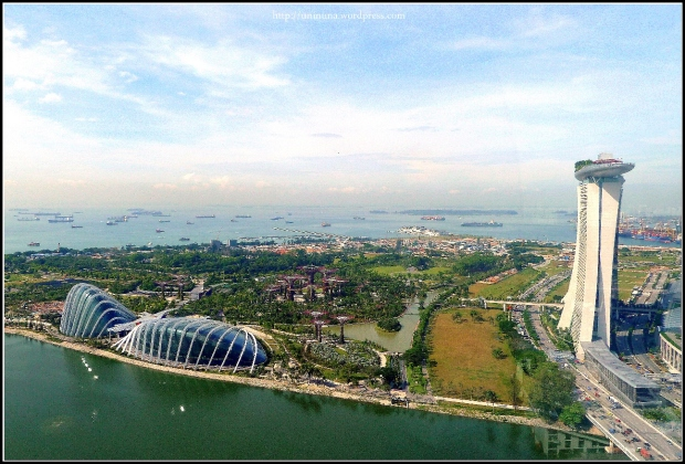 viewed from singapore flyer